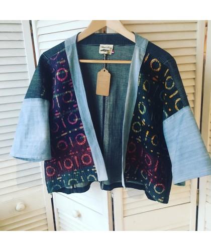 Kimono UMA circle denim indigo